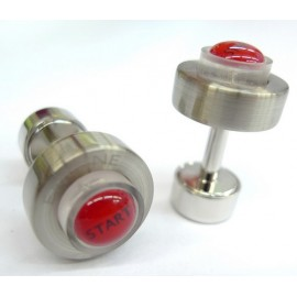 LED Light Starter Button Cufflinks