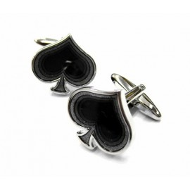 Poker Spade Cufflinks