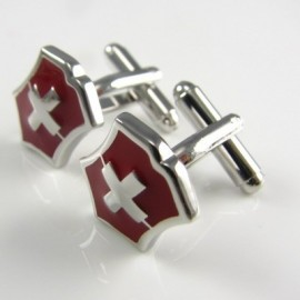 Swiss Shield Cufflinks