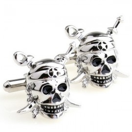 Caribbean Pirates Skull Cufflinks