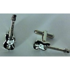 Black Electric Guitar Cufflinks