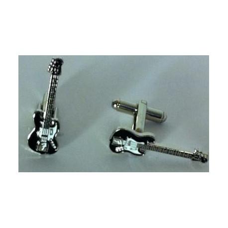 Gemelos Guitarra Eléctrica Negra