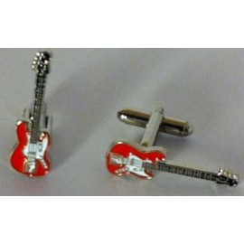 Gemelos Guitarra Eléctrica Roja