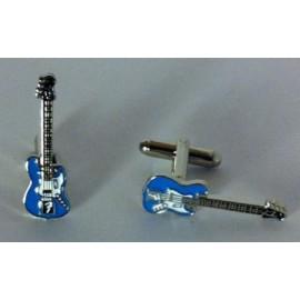 Blue Electric Guitar Cufflinks