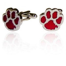 Red Dog Footprint Cufflinks