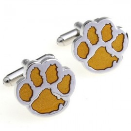 Yellow Dog Footprint Cufflinks