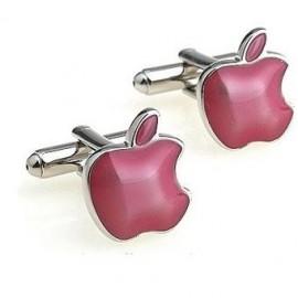 Pink Apple Cufflinks