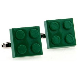 Green LEGO Brick Cufflinks