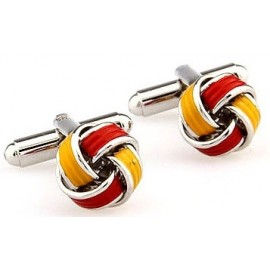 Red and Yellow Knot Cufflinks