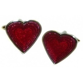 Poker Heart Cufflinks