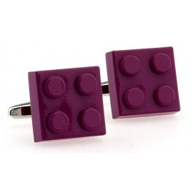 Purple LEGO Brick Cufflinks