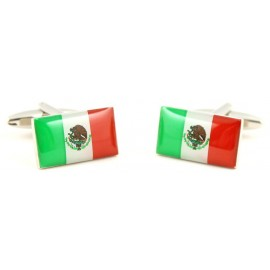 Mexican Flag Cufflinks