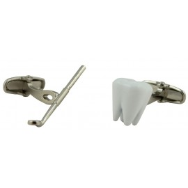 White Dentists Check-Up Cufflinks