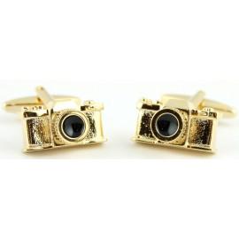 Golden Camera Cufflinks