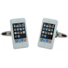 White iPhone Cufflinks