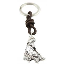 Wild Boar Head Keychain