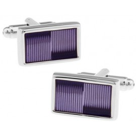 Lavender Striped Cufflinks