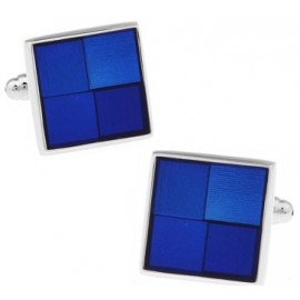 Blue Checker Cufflinks