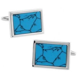 Gemelos Piedra Azul Turquesa