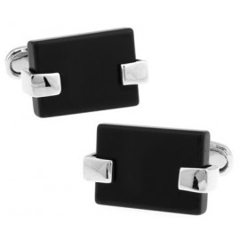 Black Catseye Rectangle Cufflinks