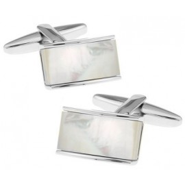 Mother of Perl Rectangle Cufflinks