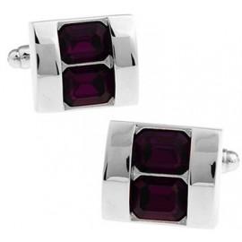 Gemelos Cristales Púrpura