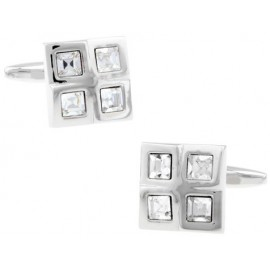 White Checker Cufflinks