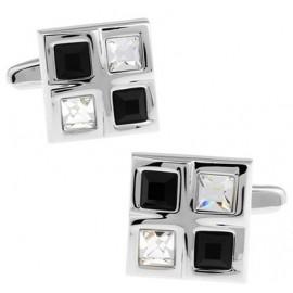Black and White Checker Cufflinks