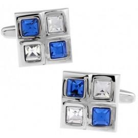 Gemelos Ventana Cristales Blanco y Azul