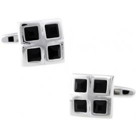 Black Checker Cufflinks