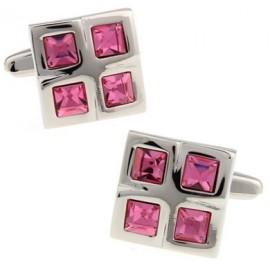 Pink Checker Cufflinks