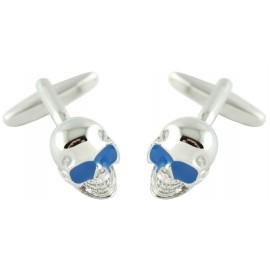 Gemelos Calavera Gafas Azul
