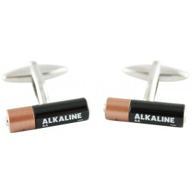 Alkaline Battery Cufflinks