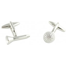 Golf Tee and Ball Cufflinks