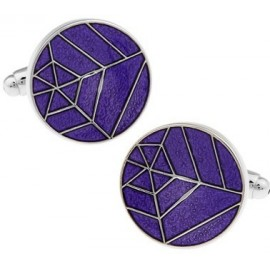 Purple Spider Web Cufflinks