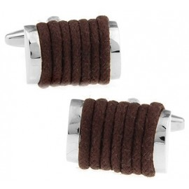Brown Rope Cufflinks