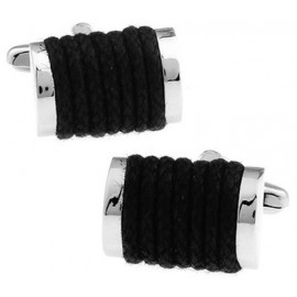 Black Rope Cufflinks