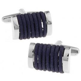Gemelos Cuerda Azul Marino