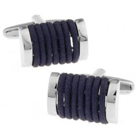 Navy Rope Cufflinks