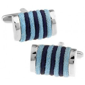 Navy and Light Blue Rope Cufflinks