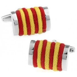 Yellow and Red Rope Cufflinks