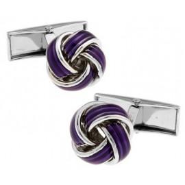 Purple Knot Cufflinks