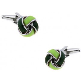 Green and Dark Green Knot Cufflinks