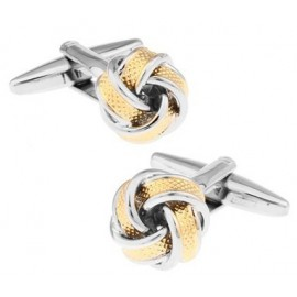 Golden and Plated Knot Cufflinks