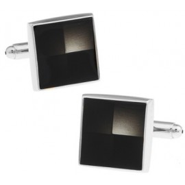 Black Checker Cufflinks