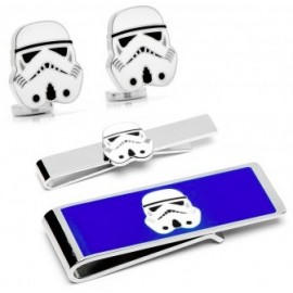 Storm Trooper Head Cufflinks, Tie Bar and Money Clip Gift Set
