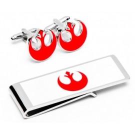 Rebel Alliance Symbol Cufflinks and Money Clip Gift Set