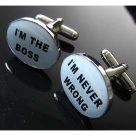 I'm The Boss, I'm Never Wrong Cufflinks