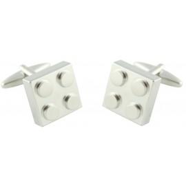 Silver LEGO Block Cufflinks