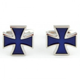 Navy Saint George's Cross Cufflinks